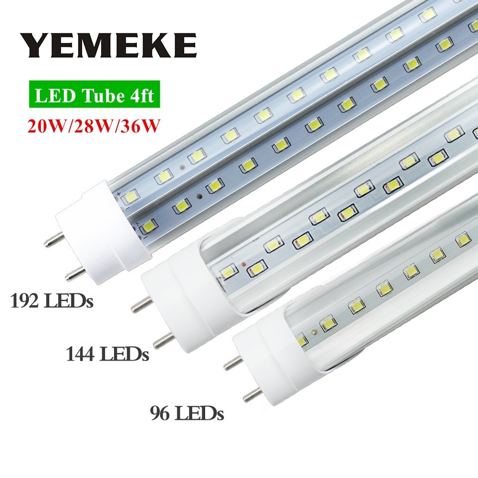 G13 4ft 20W 28W 36W Led Bulbs Tubes T8 96LED 144LED 192LED SMD2835 Super Bright Led Fluorescent Lights AC 85-265V CE ROHS FCC 9pcs lot t8 led tubes lights 4ft super bright 28w g13 fluorescent tube led bulb energy saving for existing wall lamps light