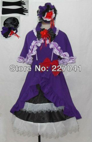 Umineko no Naku Koro Ni EP3 Beatrice Halloween Cosplay Costume Custom made Free Shipping A0183