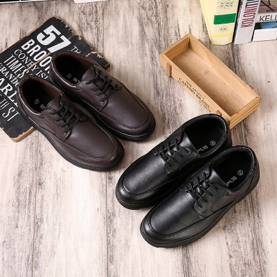 New 2018 outsole low-heeled shoes retro and simple lacing gentlemen shoes act as clothing and accessories for men's shoes JN1