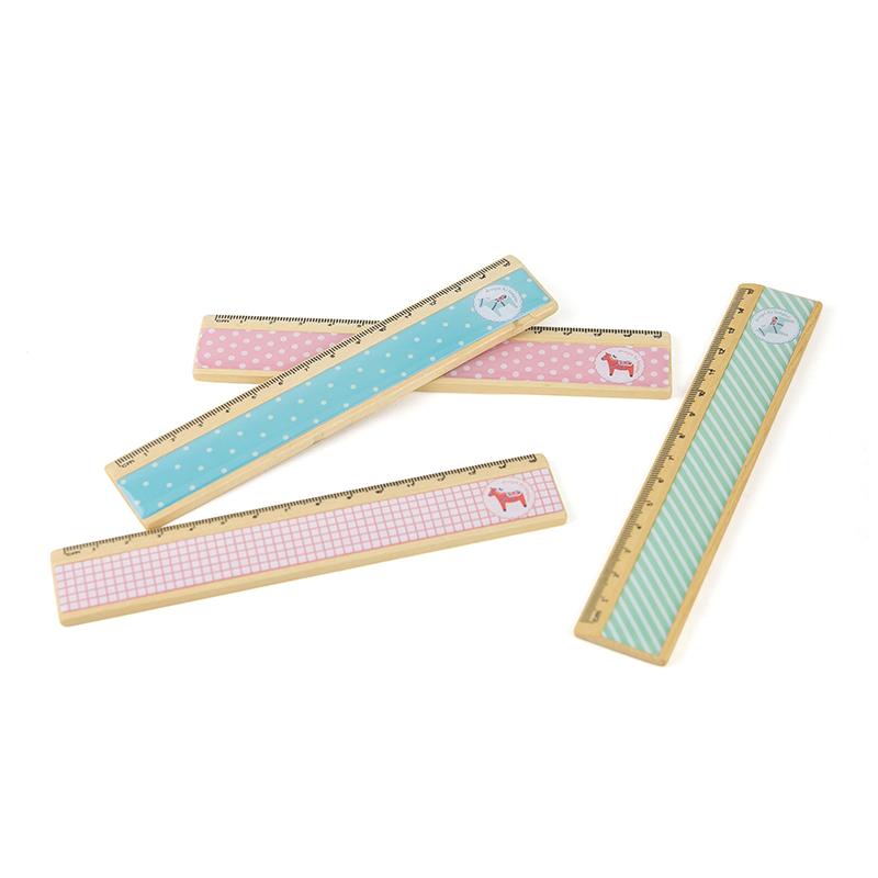 Wooden Ruler Korea Style Stationery Small Fresh Sweet Vintage Wooden Ruler
