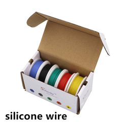 18 20 22 24 24 28 30AWG Flexible Silicone Wire Cable Mix 5colors box1/box2 package Electrical Wire Line Copper Conductor To DIY