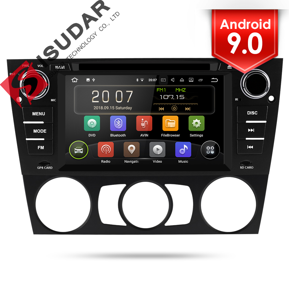 Isudar 1 Din Car Multimedia Player GPS Android 9 For BMW/320/328/3 Series E90/E91/E92/E93 DVD Player Radio FM Quad Core 2+16GB