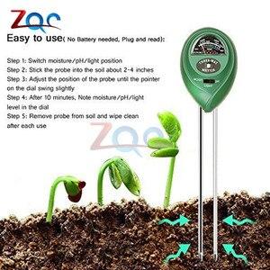 Image 5 - 3 in 1 Soil PH Water Moisture Meter Acidity Humidity Sunlight Garden Plants Flowers Moist Tester Instrument Tool