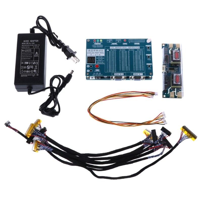 1 Set Portable TV/LCD/LED Outil de Test Testeur de Panneau de Soutien 7-84 Pouce LVDS 6 Écran ligne
