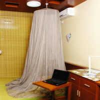BLOCCO EMF EMF Proteggere il corpo contro le radiazioni EMI schermatura rotondo zanzara letto a baldacchino netto