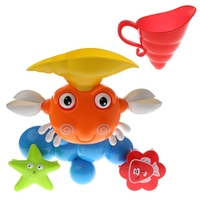 Cartoon Crab Children Bath Shower Sandy Beach Kids Baby Summer Water Playing Toys W30
