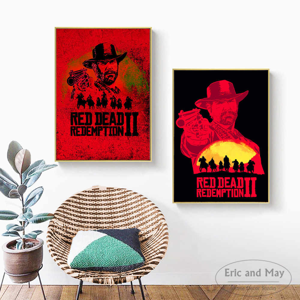 Red Dead Redemption 2 Video Game Wall Art Canvas Painting Poster For Home Decor Posters And Prints Unframed Decorative Pictures