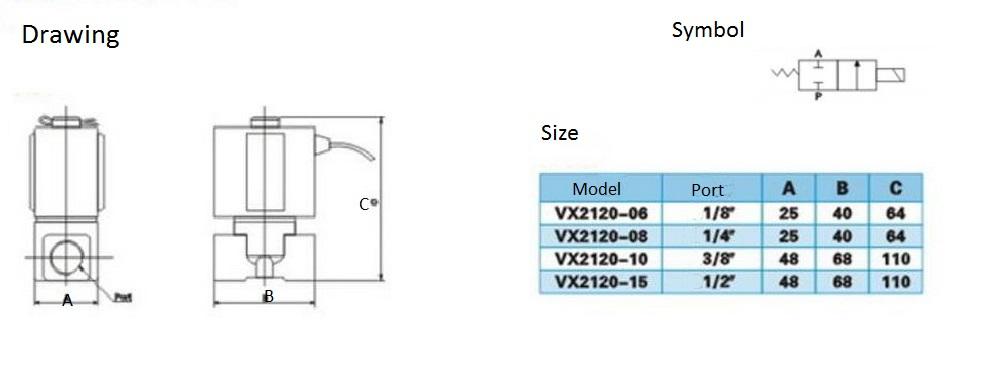 14 Brass Solenoid Valve Smc Type 2 Way Air Gas Diesel Steam Viton