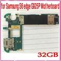 La buena calidad para samsung galaxy s6 edge g925p motherboard, 32 gb abierto original para samsung s6 g925p placa base, envío libre