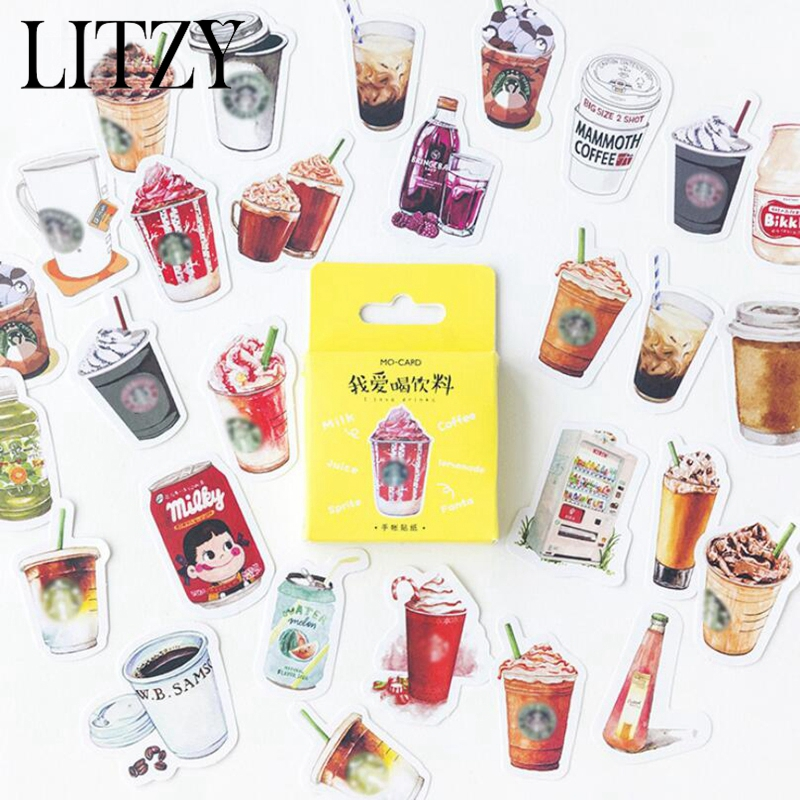 46pcs-box-kawaii-coffee-drink-paper-decoration-stationery-sticker-diy-diary-planner-label-bullet-journal-stickers-student-supply