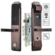 אבטחה אלקטרוני טביעות אצבע דלת מנעול דיגיטלי לוח מקשים Keyless שילוב M1 כרטיס מפתח חכם כניסה לבית משרד