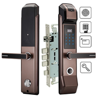 Security Electronic Fingerprint Door Lock Digital Keyless Keypad Combination M1 Card Key Smart Entry For Home Office