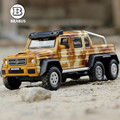 1:32 de La Venta Caliente Niños de aleación de juguete modelo de coche BRABUS Mercedes AMG 6x6 modelos de aleación boomerang boy regalos