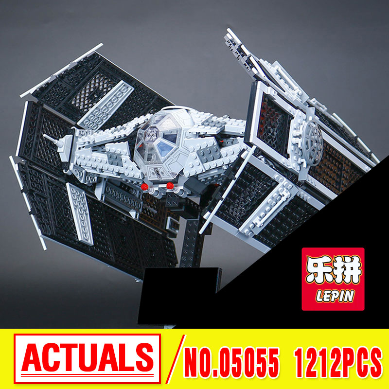 Lepin 05055 Star 1212pcs The Rogue One USC Vader TIE Advanced Fighter Set 10175 Building Blocks Bricks Educational War 2017 lepin 05055 star series the rogue one usc vader tie advanced fighter set 10175 building blocks bricks educational toys war