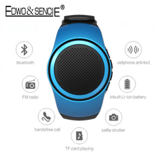 Edwo B20 Hot Portable Smart Watch Self-timer Anti-lost Sport Bluetooth 2.1+EDR Speaker Alarm TF Card Playing FM Radio Hands-free