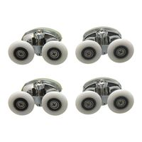 4 x Twin Top Shower Glass Door Rollers Runners Pulleys Wheels 25mm|Door Rollers|Home Improvement -