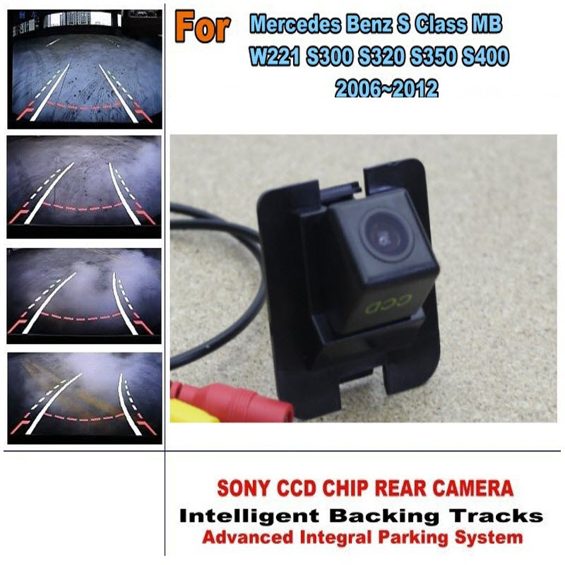 ФОТО Smart Parking Camera For Mercedes Benz S MB W221 S Class 2006-2012 Car Reverse Pre-hole Tracks Module CCD Night