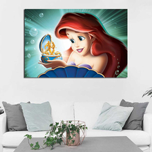 Ariel The Little Mermaid HD Wallpaper Canvas Painting Print Living Room Home Decor Modern Wall Art Oil Painting Poster Pictures dhl lepin ninja figures 1501pcs 06058 temple of the ultimate weapon model building kits blocks educational bricks kid toys 70617