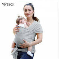 Comfortable Fashion Infant Sling Soft Natural Wrap Carrier Baby Backpack Breathable Cotton Hipseat Nursing Cover 0