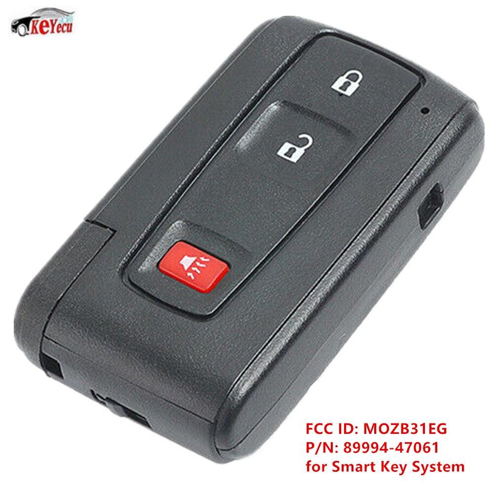 KEYECU nouveau remplacement Smart télécommande voiture clé Fob 3 bouton pour Toyota Prius 2004-2009-MOZB31EG 89994-47061