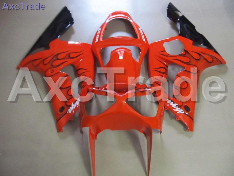 Высокое качество ABS пластик для Кавасаки ниндзя запросу zx6r 636 ZX в-6р 03 04 2003 2004 Мото на заказ мотоцикл обтекатель комплект кузова C375