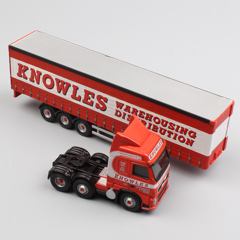 1/76 Scale Brand Corgi Volvo FH12 FH Container Heavy Truck Knowles Warehousing Trailer Box Metal Diecast Model Car Toy Miniature