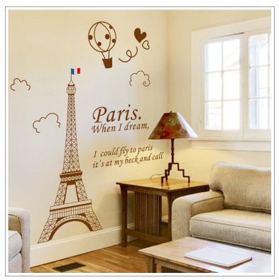 Paris When I Dream Living Room Decoration DIY Stickers PVC Eiffel Tower  View Removable Stickers Bedroom. Online Get Cheap Eiffel Tower Bedroom Decor  Aliexpress com