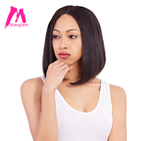 Maxglam Bob Wigs Short Human Hair Lace Front Wigs For Black Women Brazilian Straight Remy Hair Free Shipping