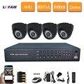 LOFAM 1080N 4CH AHD DVR kit 1080 P HDMI DVR Система ВИДЕОНАБЛЮДЕНИЯ 4 шт. 800TVL ИК Крытый купольная камера ВИДЕОНАБЛЮДЕНИЯ видео survelliance комплект 4 канала