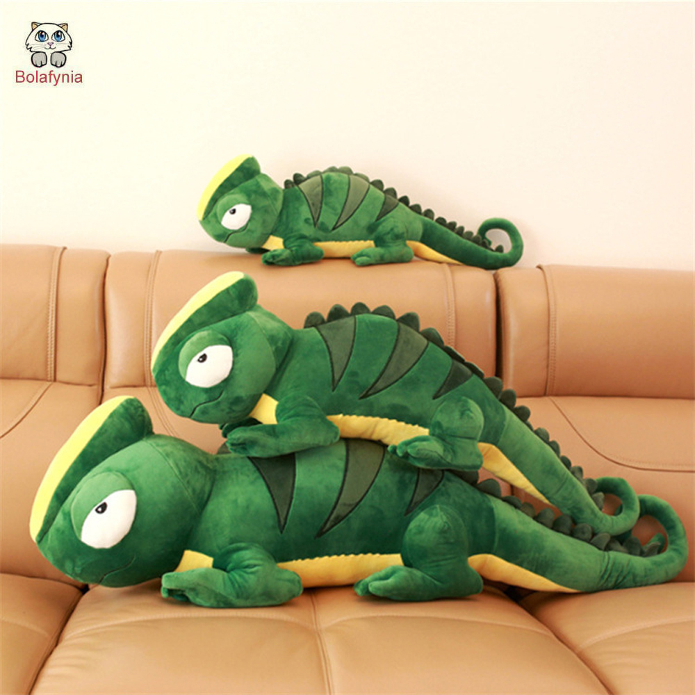 BOLAFYNIA Children Plush Stuffed Toy chameleon Baby Kids plush Toy for Christmas Birthday Gift 90cm