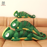 BOLAFYNIA Children Plush Stuffed Toy chameleon Baby Kids plush Toy for Christmas Birthday Gift 90cm