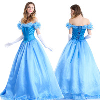 Fashion Womens Ladies Luxury Cinderella Princess Costume Adult Cinderella Costume Fairy Tale Cosplay For Party M