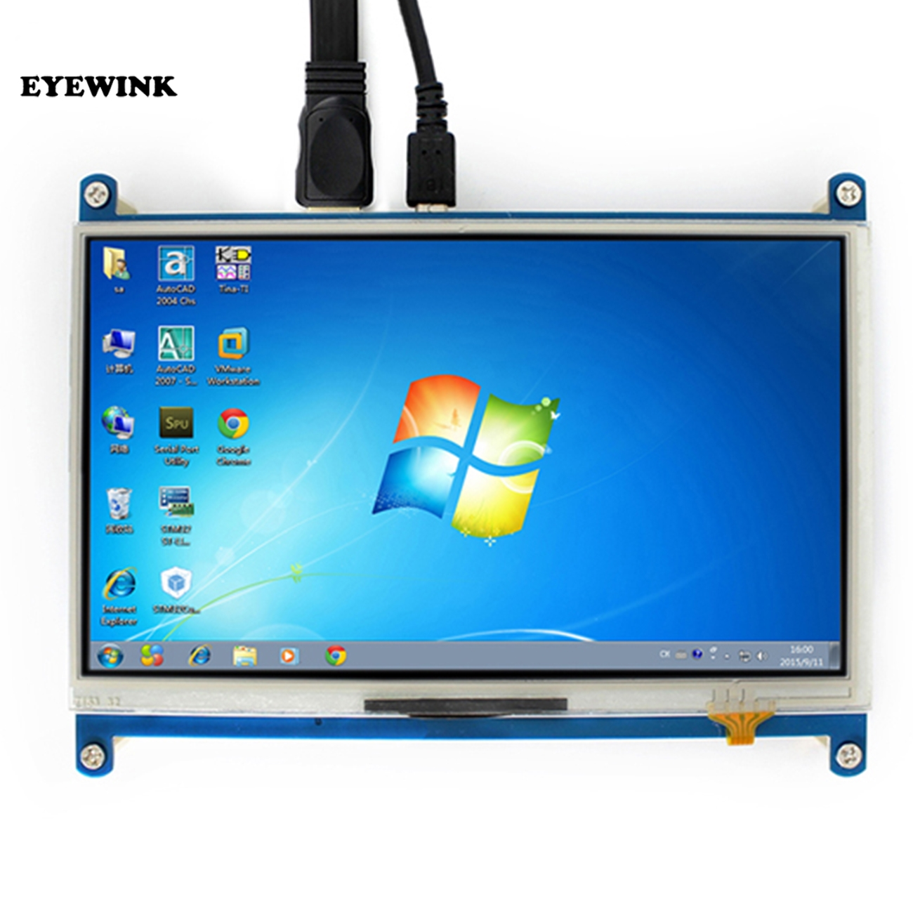 7 inch for Raspberry pi touch screen 1024 600 7 inch resistance Touch Screen LCD HDMI