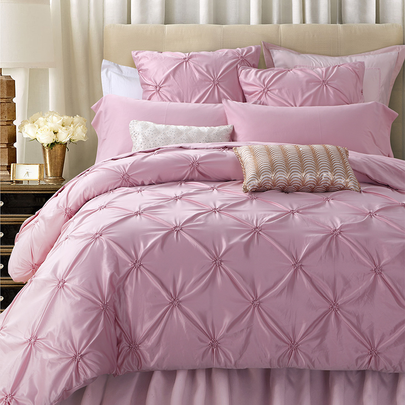 Delicieux SunnyRain 4/6 Pieces Handwork Pinch Pleats Luxury Bedding Set King Size Queen  Bed Set Wedding Bedding Sets Duvet Cover Bed Sheet In Bedding Sets From  Home ...