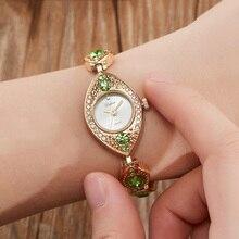 Luxury Women Bracelet Watches Jewelry Diamond Blue Red Ladie