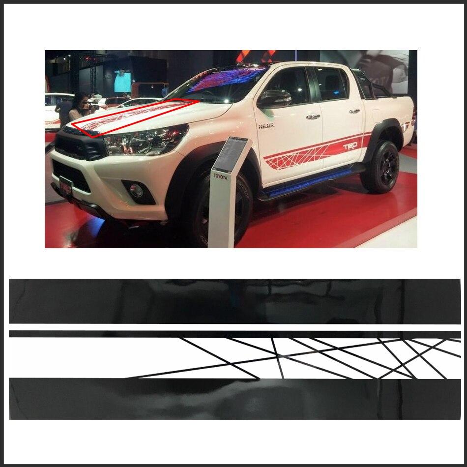 бесплатная доставка 1pc внедорожник 4х4 капот графический винил для Тойота ХАЙЛЮКС РЕВО Виго наклейки