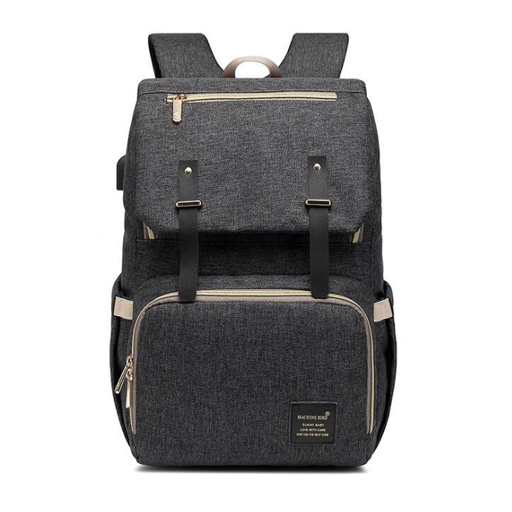 2020 Diaper Bag Mummy Daddy Backpack Baby Stroller Bag Waterproof Oxford Handbag Nursing Nappy Bag Kits USB Rechargeable Holder