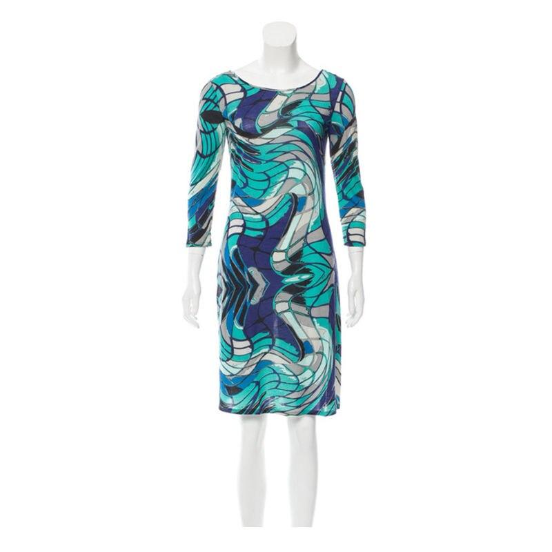 Mode femmes nouveau style européen américain stretch imprimé slim robe en tricot Z-1-20