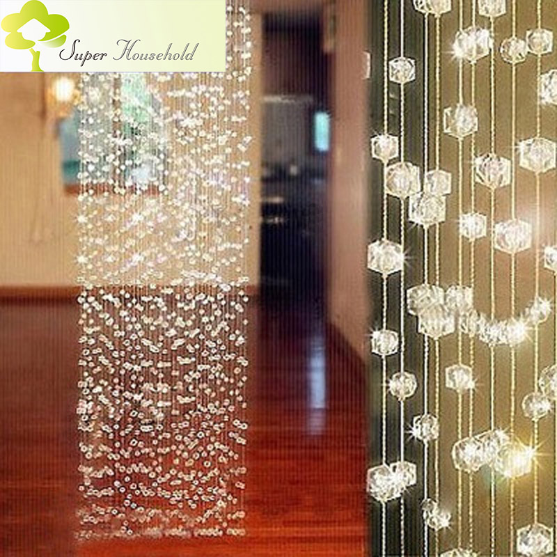 DIY Handmade Curtains Decorative Door Curtain Beads Room ...