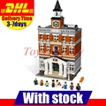 2016 DHL Lepin 15003 2859 PCS City Creator Town Hall Sets Model Building Kits Set Blocks Compatible With 10024