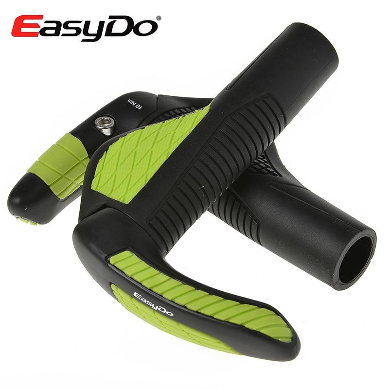ФОТО New Arrival EasyDo Bike Bicycle Cycling MTB Touring Ergonomic Kraton Handlebar Grips + Fiberglass Barends 5 Colors