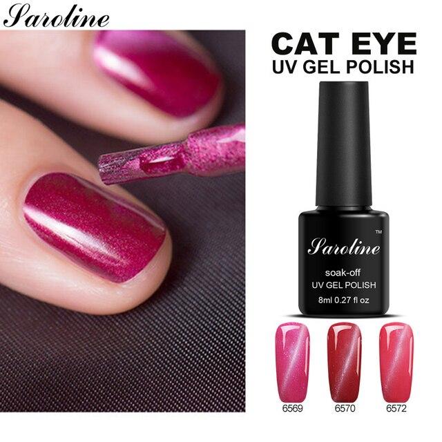Saroline3D Cat Eye Effect UV LED Lamp Hybrid Nail Varnishes Lucky ...