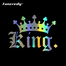 Tancredy Car Stickers Decals King Crown Car Stickers Bumper Sticker Car Styling Decoration Car Door Body Window Vinyl Stickers cheap The Whole Body cartoon Glue Sticker Not Packaged 15cm 0inch Creative Stickers car stickers and decals 10 5cm Car Bumper Stickers
