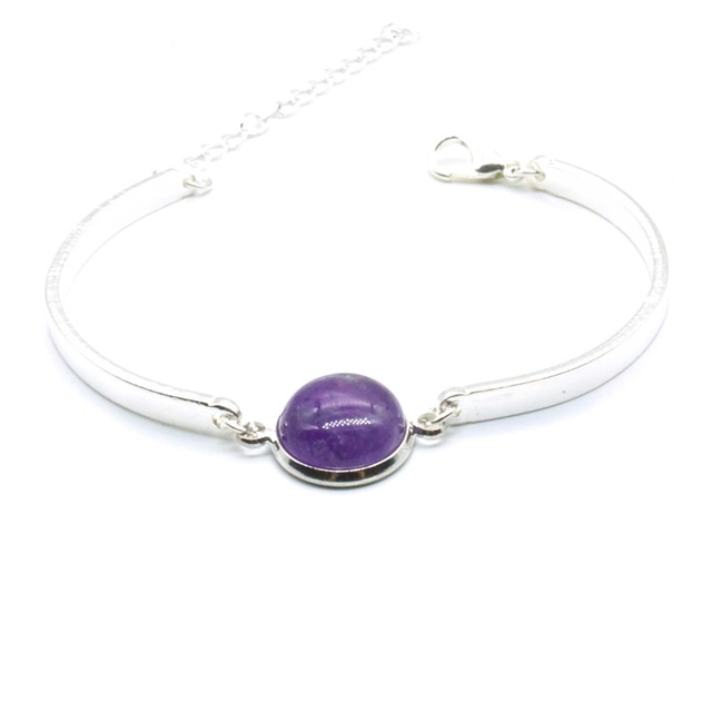 Bracelet Amethyste Argent Laborite
