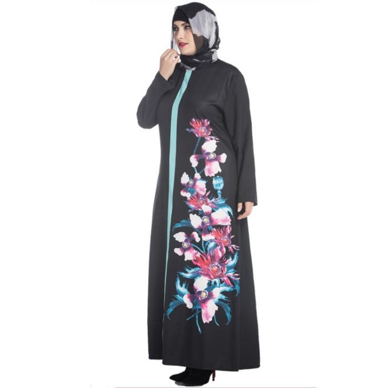 YSMARKET afrika druck plus größe robe sexy femme ete 2017 abaya jilbab...