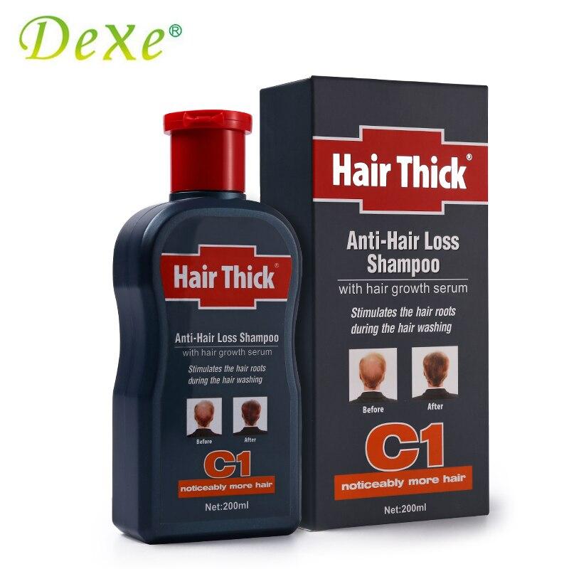 Dexe 200ml C1 Anti-hair Loss Shampoo with  Hair Growth Thick Serum Hair Loss Products for Men Prevent Hair Treatment Repair 1