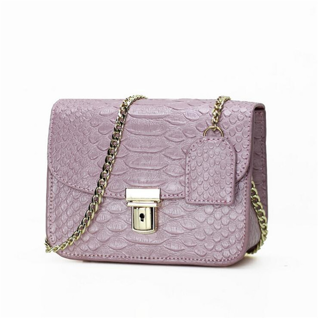 Genuine leather Women Shoulder bag Fashion crocodile grain bag Ladies Party chain Women bags