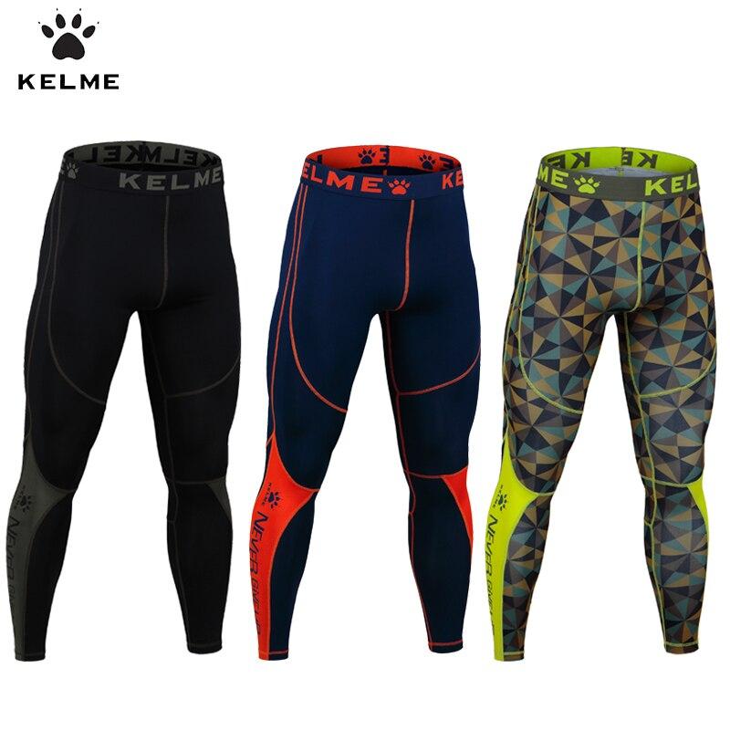 KELME Men Fitness Leggings Sports Leggings Running Tights Compression Pants Men Base Layer Pant Bodybuilding