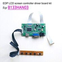 LED laptops lcd screen controller driver board DIY kit for B133HAN03 13.3″ 1920*1080 WLED EDP 30 pin VGA HDMI monitor panel