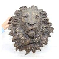 Home decoration bronze casting lion head statue sculpture